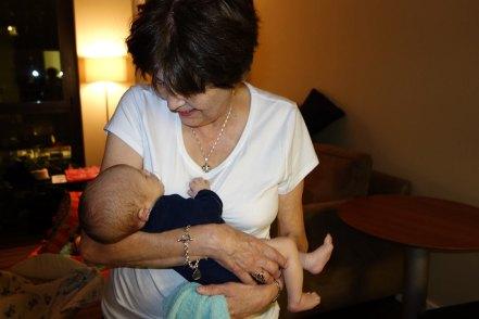 Grandma Lois sings Henry a lullaby.