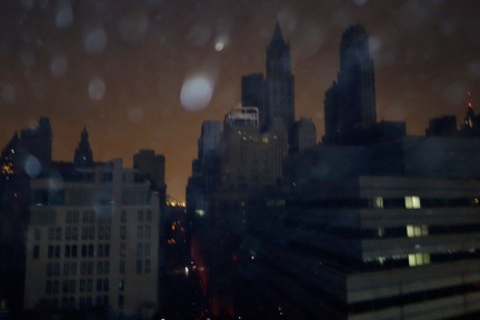 Lower Manhattan in blackout