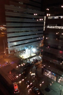 Base segment of 1WTC spire is hauled to site