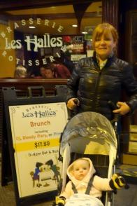 Julie and Mae outside Les Halles.