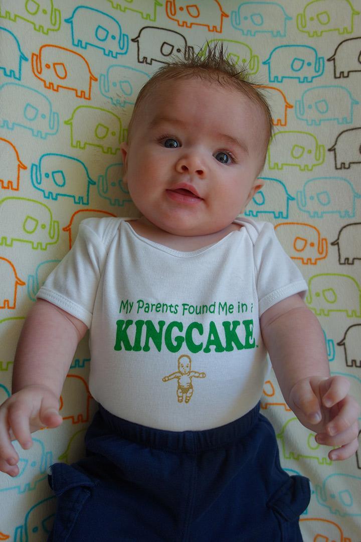 King Cake Baby Onesie