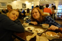 The girls indulge in some hot chocolate at City Bakery....good stuff, but soooo rich!