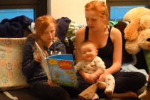 """Henry squirms while """"The Lorax"""" is read."""