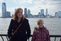 Stopping along the Hudson on our way to the Staten Island Ferry.