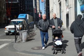 Butch, Mark and Henry on Broadway.