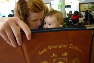 Choosing from the menu at Yeah Shanghai Deluxe.