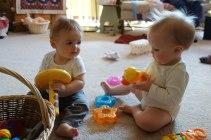 Henry and cousin Mae play together.
