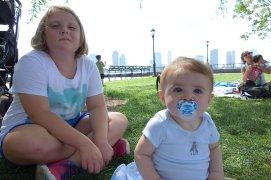 Emma and Henry in Rockefeller Park.