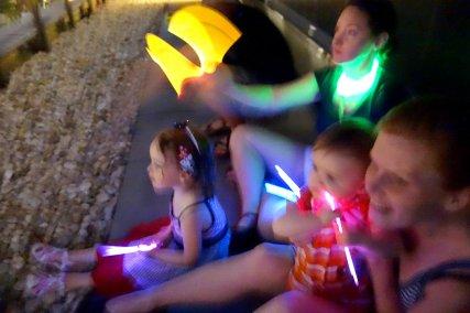 Glow sticks provided additional festive lighting.