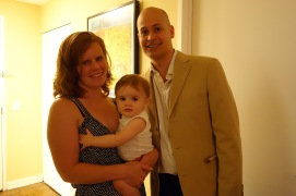 Family portrait before our anniversary dinner.