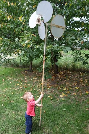 Henry revisits the backyard windmill…