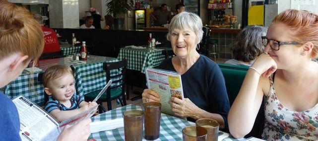Lunch at Hudson Diner.