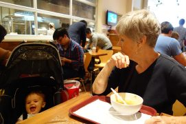 Gram and Henry at Takahachi Bakery.