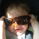 Trying on some shades.