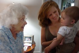 Henry is introduced to his Great-grandma Virgie.