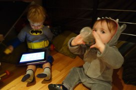 Chillin' in the Batcave with Gavin.