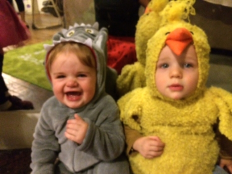 Henry and Atticus in costume at daycare. Photo courtesy of Maryellen.