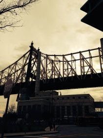 View of Queensboro/59th Street Bridge from Roosevelt Island.