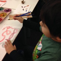 Egon uses watercolor.