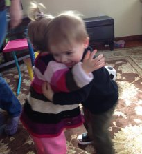 Henry hugs Regan