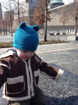 Henry at the 9/11 Memorial.