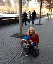 Suzanne and Henry at the 9/11 Memorial.
