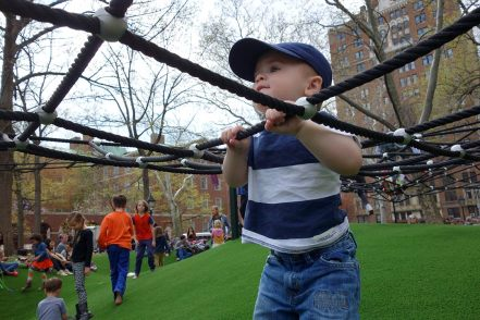 Learning the ropes at Washington Square Park.