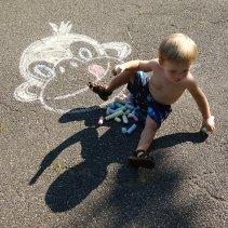 Chalk monkey