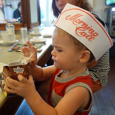 Chocolate milk at Morning Call.
