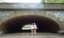 Under a bridge in Central Park.