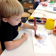 Henry's first painting.
