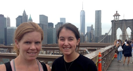 Shannon and me on the Brooklyn Bridge.