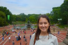 Shannon at Bethesda Fountain.