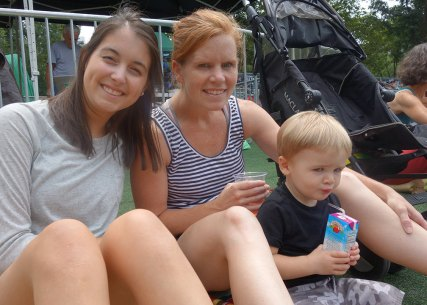 Shannon, Jacqui and Henry at SummerStage.