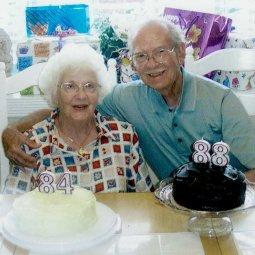…celebrating their 84th and 88th birthdays together.