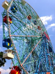 That's us in the bottom red car on The Wonder Wheel.