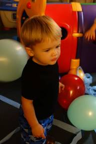 Henry with balloons