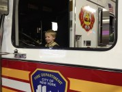 Manning the fire engine