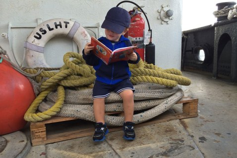 Reading at the stern