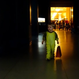 Trick-or-Treating in the American Museum of Natural History.