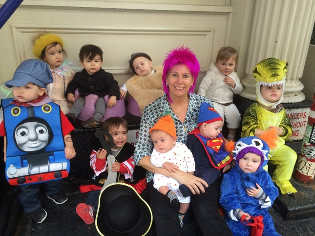 Maryellen and the daycare crew in costume.