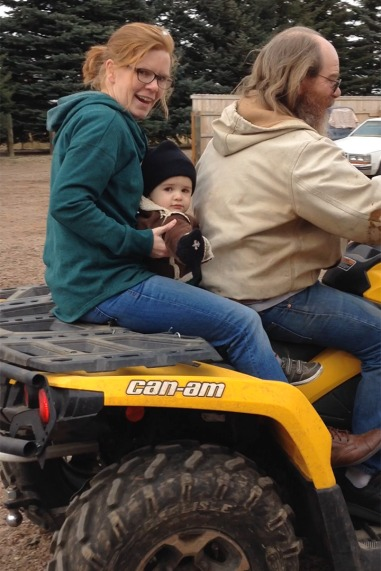 First four wheel with Grandpa.