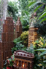 Some iconic buildings recreated in bark
