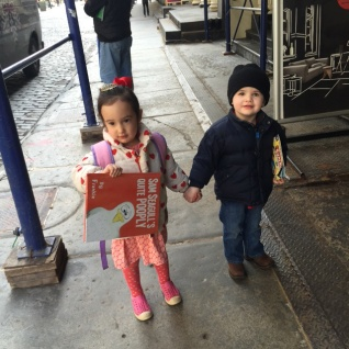 Halsey and Henry head to story hour.