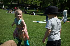 Mae and Henry in Sheep Meadow.