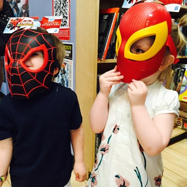 Superhero masks.