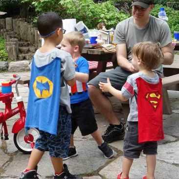 Gathering of superheroes