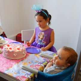 Birthday girl, Halsey and little brother, Ford