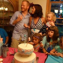 The Lindner family celebrates.