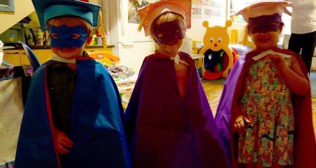 Masked graduates.